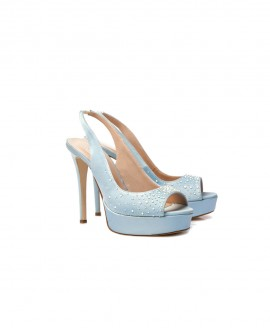 Bridal Slingback Ciel Satin With Pearls Mod.2333