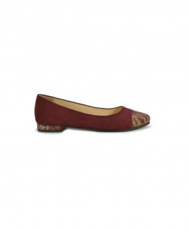 Ballerinas Bordeaux Suede With Patented Leather Mod.2578
