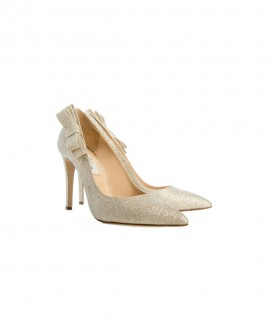 Bridal Pointed Pumps High Heels With Glitter Fine Mod.2398